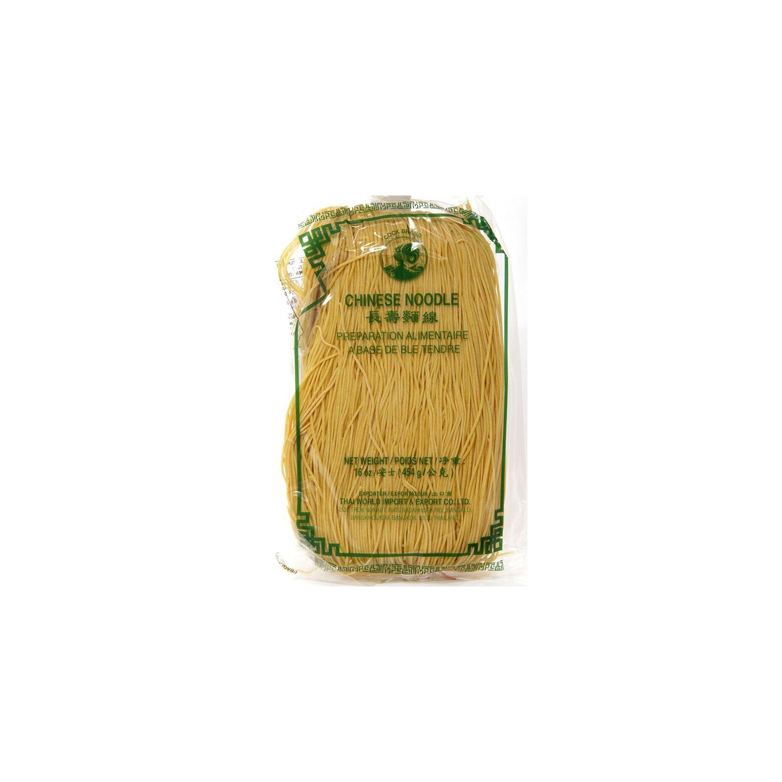Asia Marché Nouilles Chinoises jaune au blé / curcuma 454g Coq