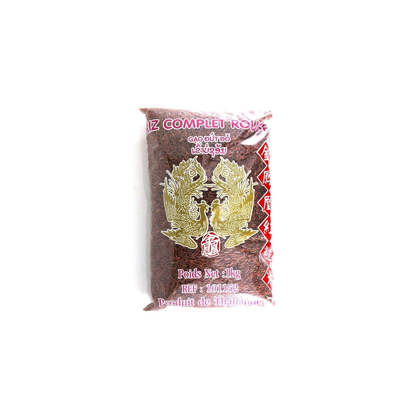 Asia Marché Riz thaï complet rouge 1kg Oiseaux Célestes (Phoenix)