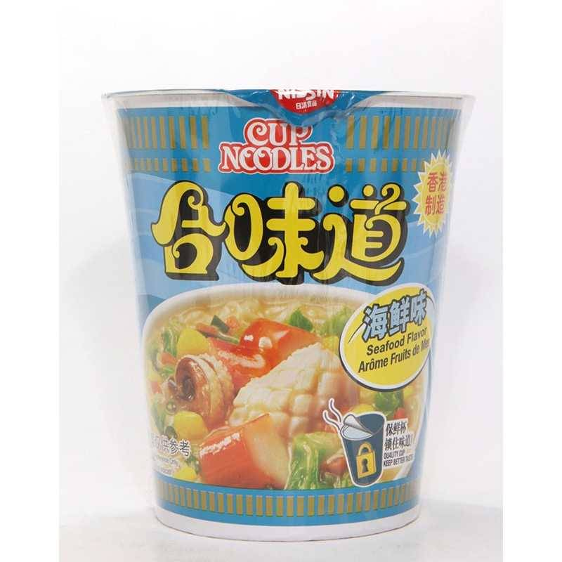 Asia Marché Soupe de nouilles aux fruits de mer, Cup noodles en bol 75g Nissin