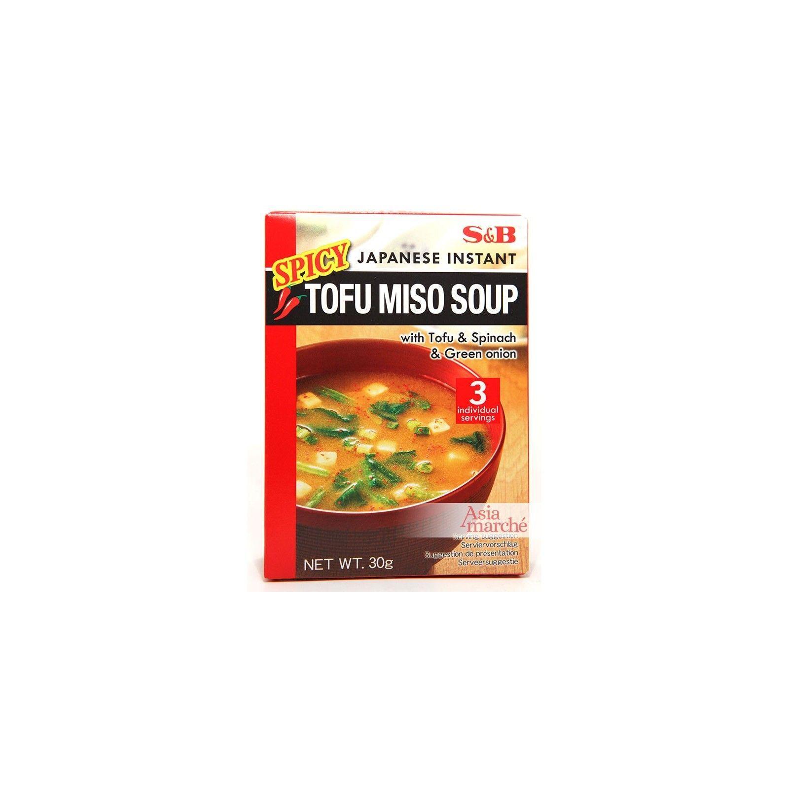 Asia Marché Soupe Miso épicée au Tofu 30g S&B