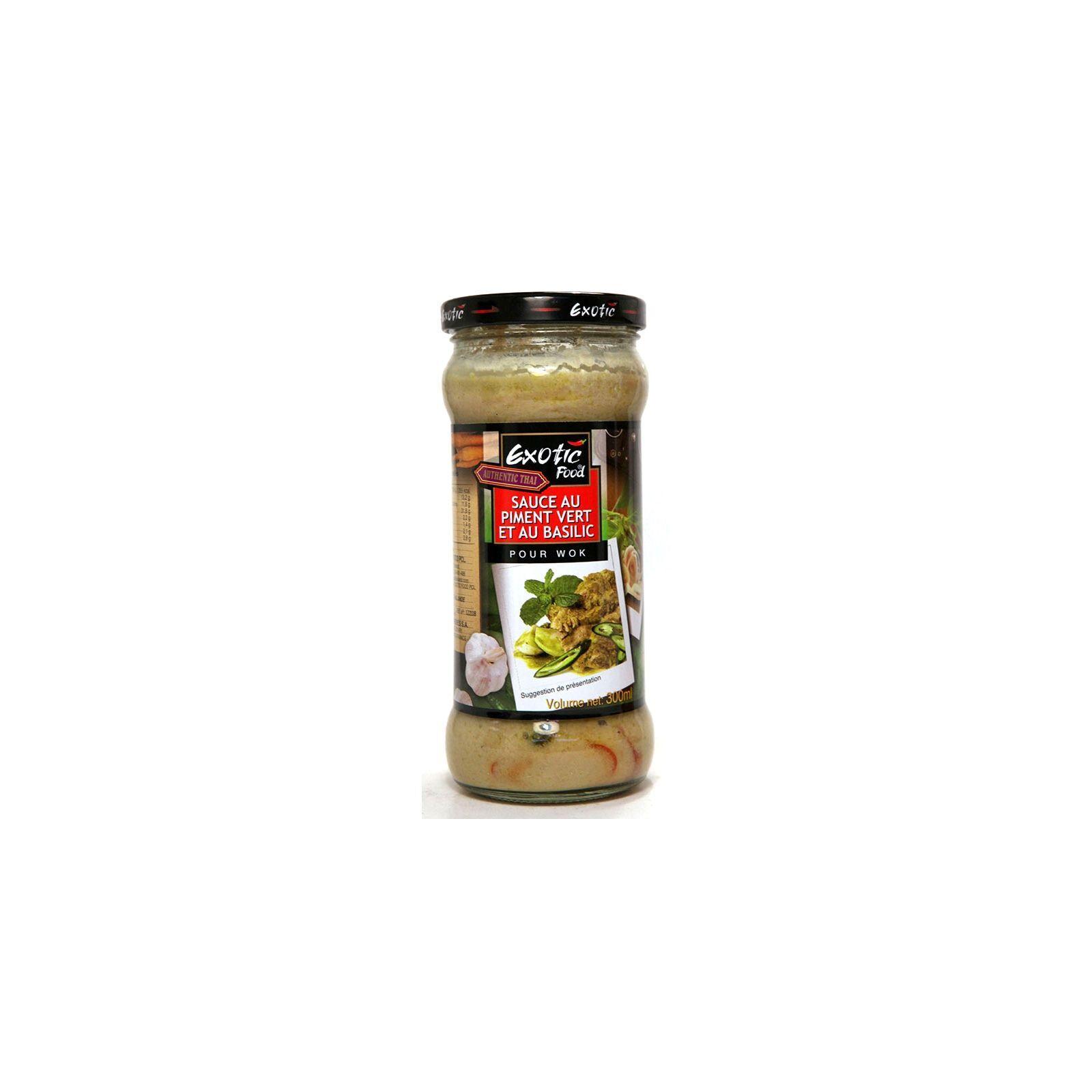 Asia Marché Sauce wok Piment vert et basilic 300ml Exotic Food