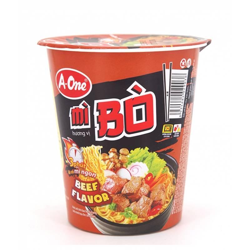 Asia Marché Soupe de nouilles en bol au boeuf 65g A-One