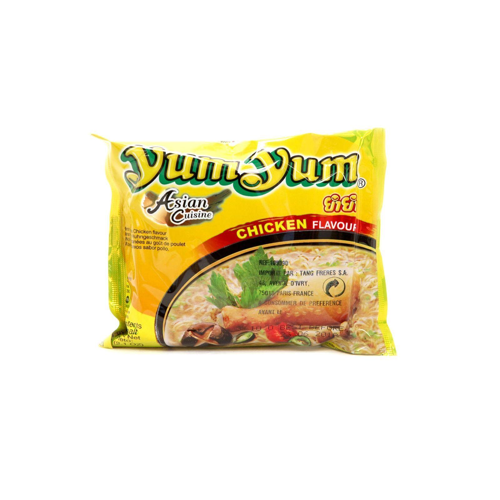 Asia Marché Soupe de nouilles au poulet 60g YumYum Lot de 10