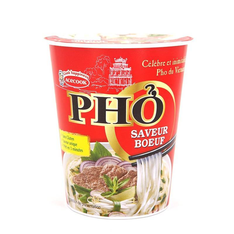 Asia Marché Soupe Pho boeuf en Bol 56g Oh Ricey