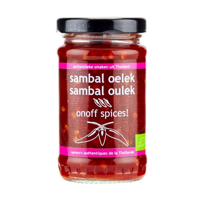 Asia Marché Purée de piment Sambal Oelek BIO 110g OnOff