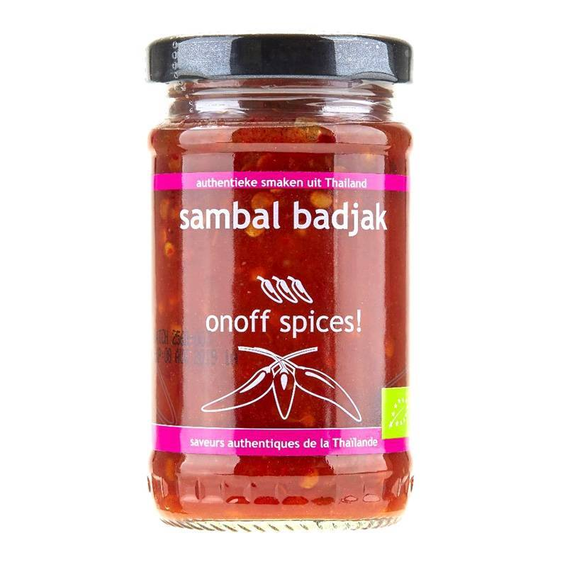 Asia Marché Purée de piment doux Sambal Badjak BIO 110g OnOff