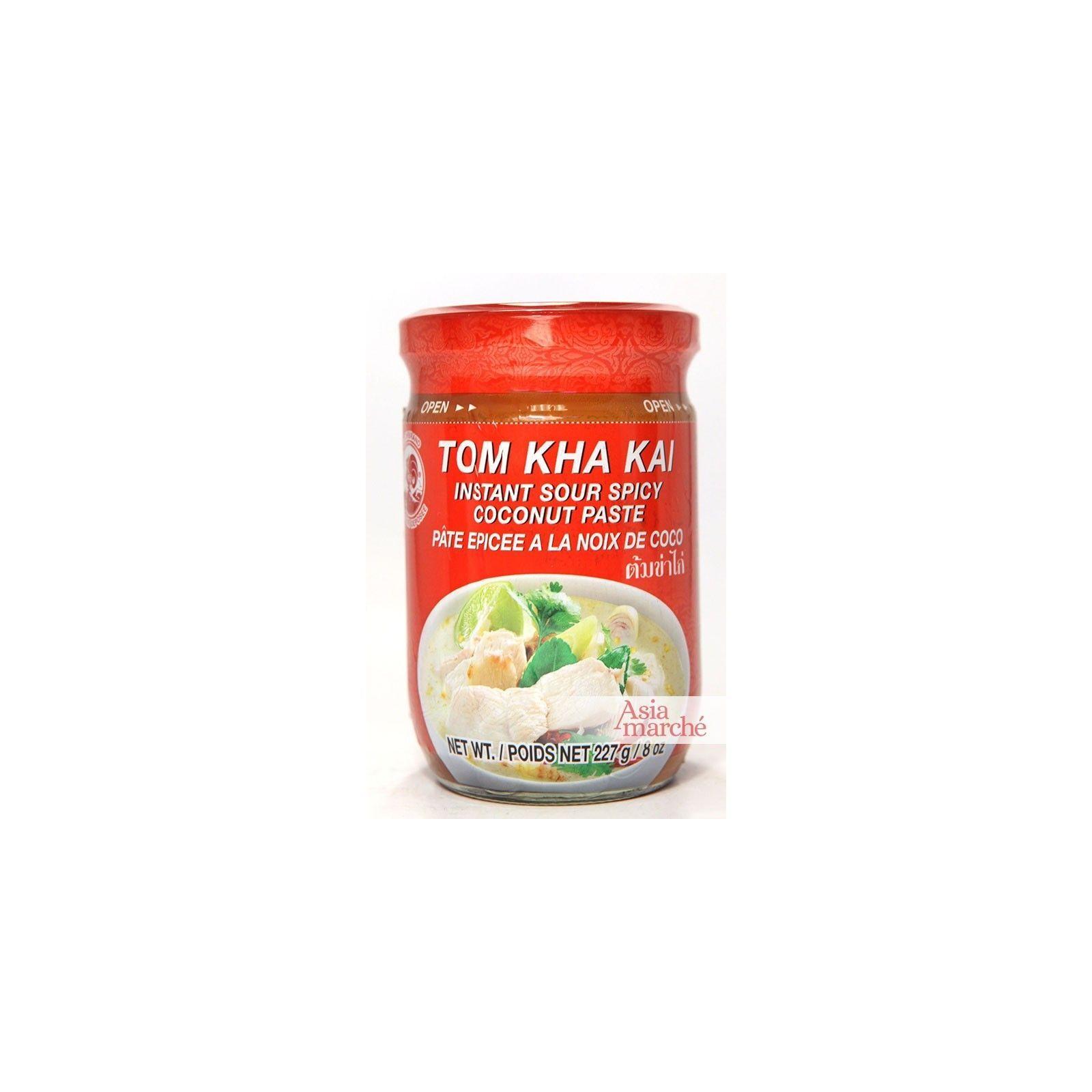 Asia Marché Pâte pour Bouillon de soupe Tom Kha Kai 227g Coq