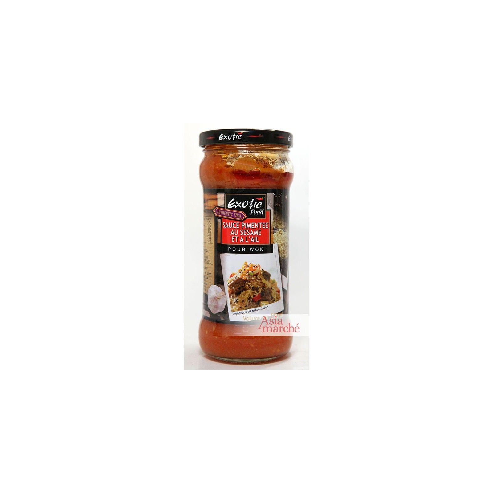 Asia Marché Sauce pimentée au sésame et à l'ail pour wok 300ml Exotic Food