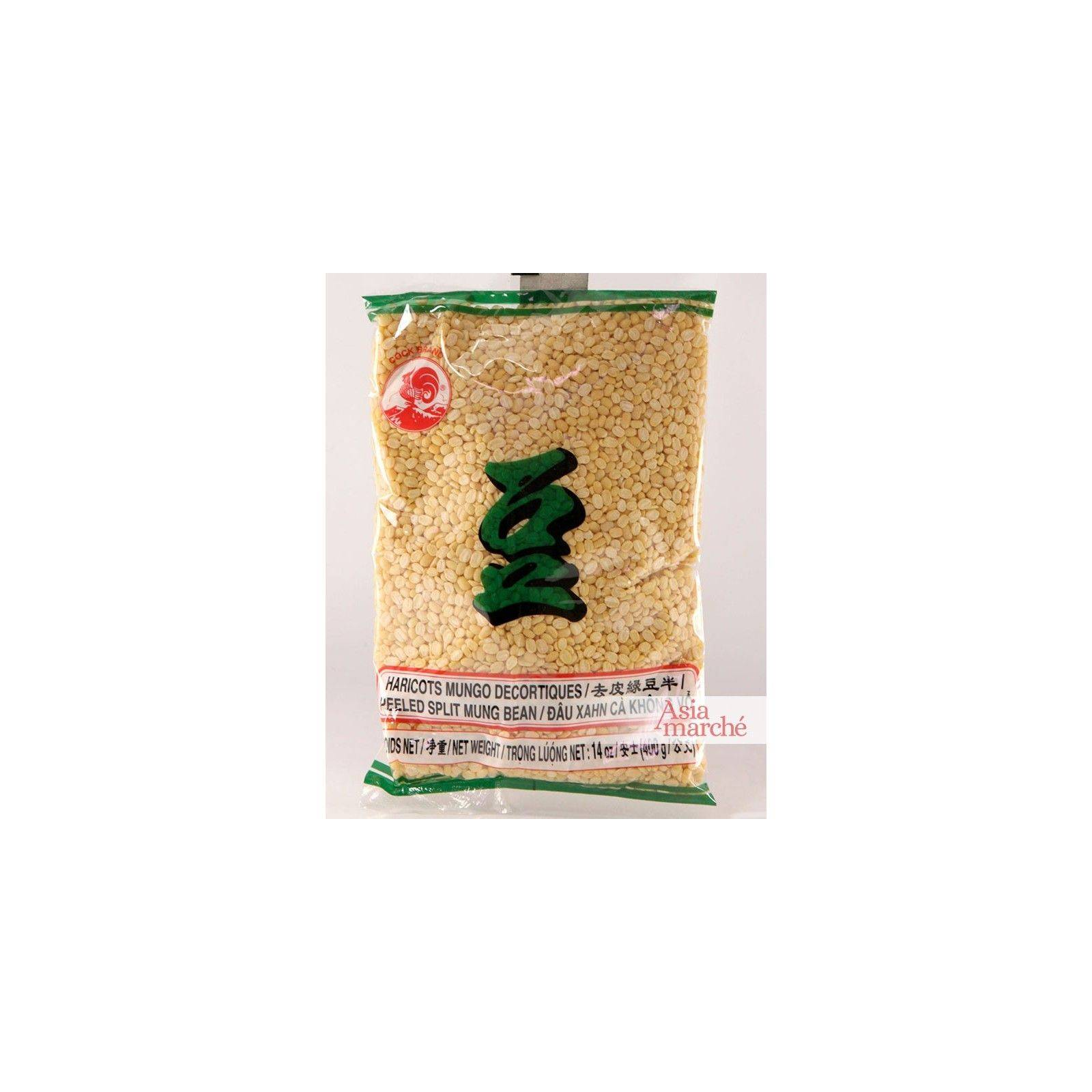 Asia Marché Graines de soja décortiquées 400g Coq