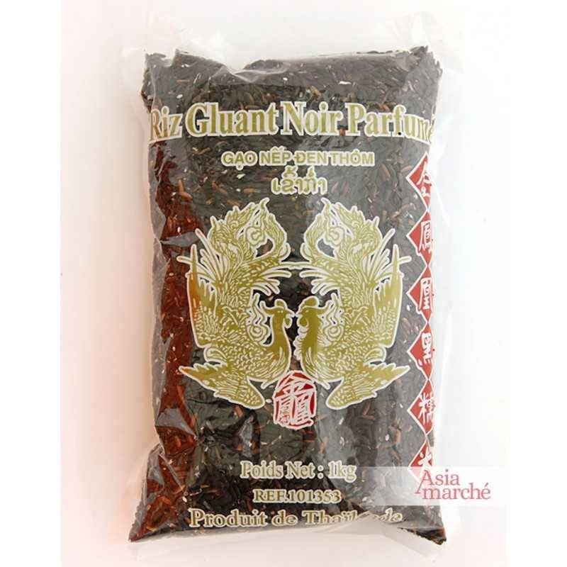Asia Marché Riz gluant noir 1kg Oiseaux Célestes (Phoenix)