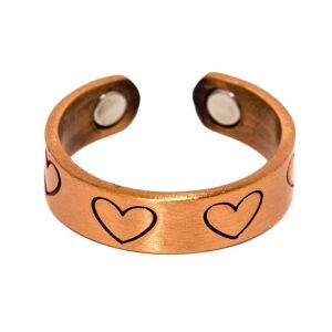 Kerdynelle Bague magnétique en cuivre avec aimants - Love cœurs - Publicité