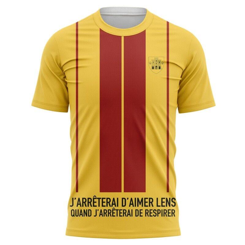 Tribune FC T-shirt J'arrêterai d'aimer Lens quand j'arrêterai de respirer - Supporters Lens