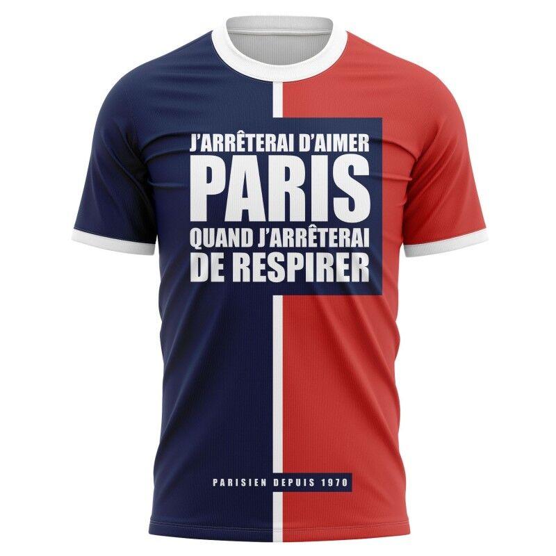 Tribune FC T-shirt J'arrêterai d'aimer Paris quand j'arrêterai de respirer - Supporters Paris
