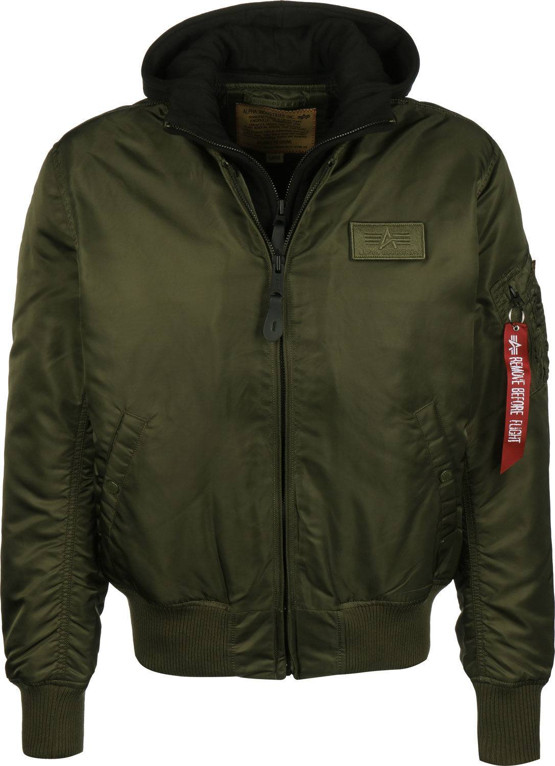 Alpha Industries MA-1 D-Tec, taille S, homme, olive