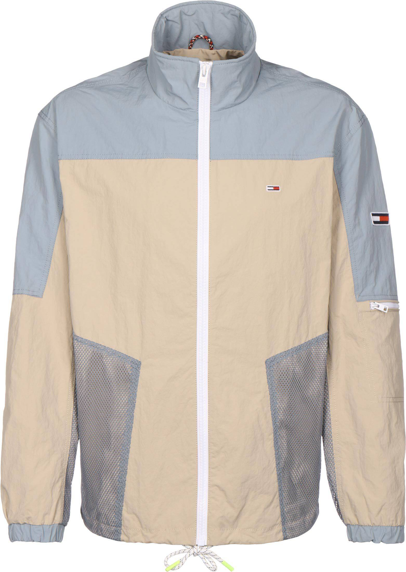 Tommy Jeans Mix Media Colorblock, taille L, homme, beige bleu