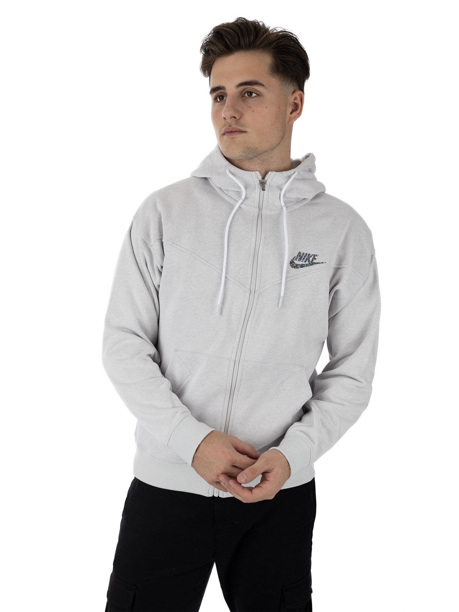 Nike sweat zippé à capuche, taille L, homme, gris