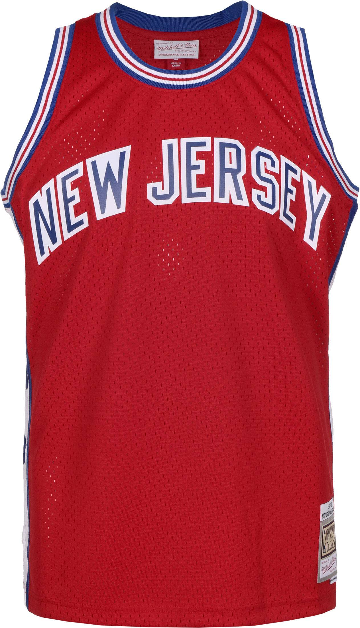 Mitchell & Ness 1967-68 New Jersey American Swingman, taille XL, homme, rouge