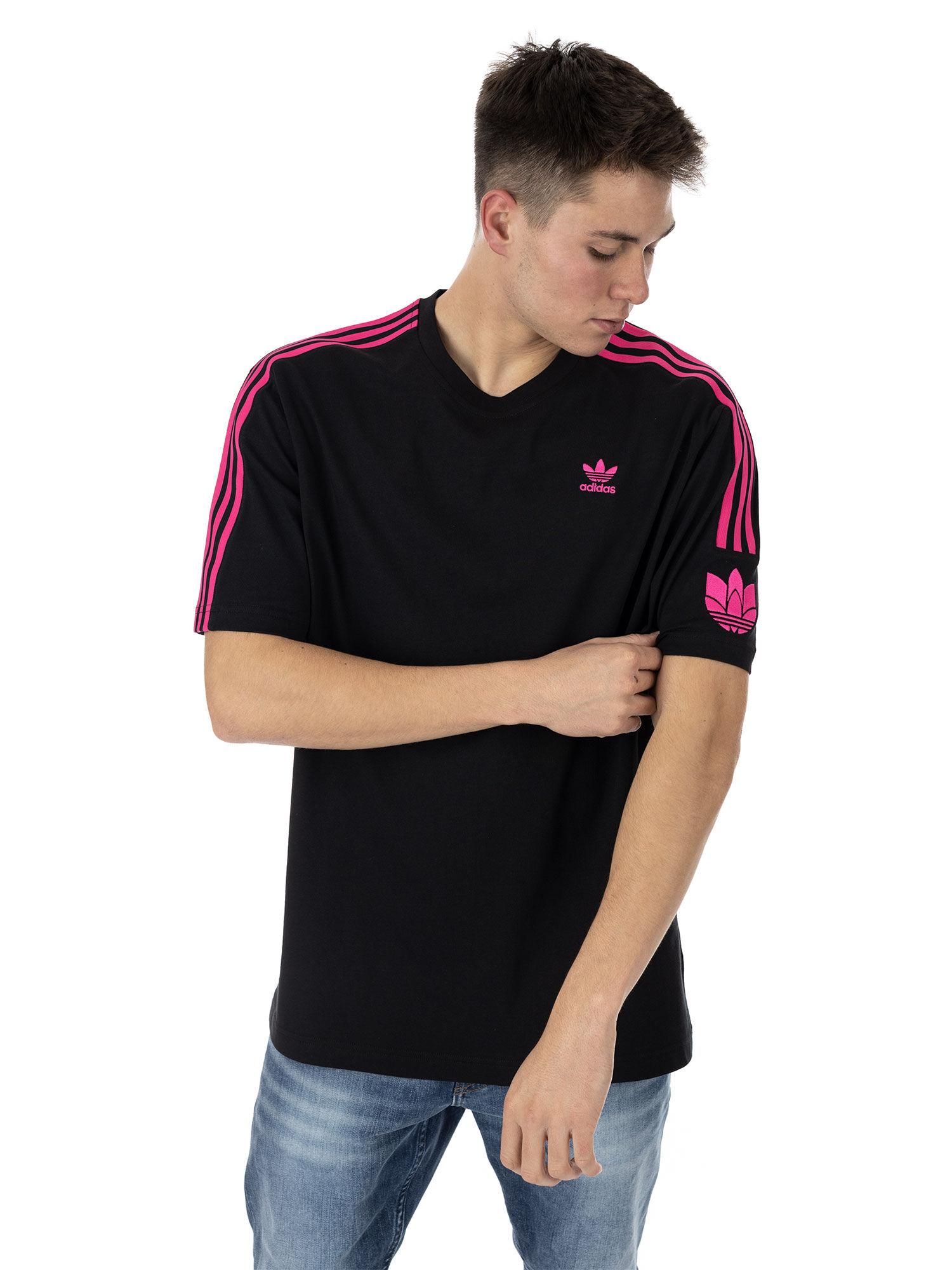 adidas 3D Trefoil 3 Stripes, taille S, homme, black/pink