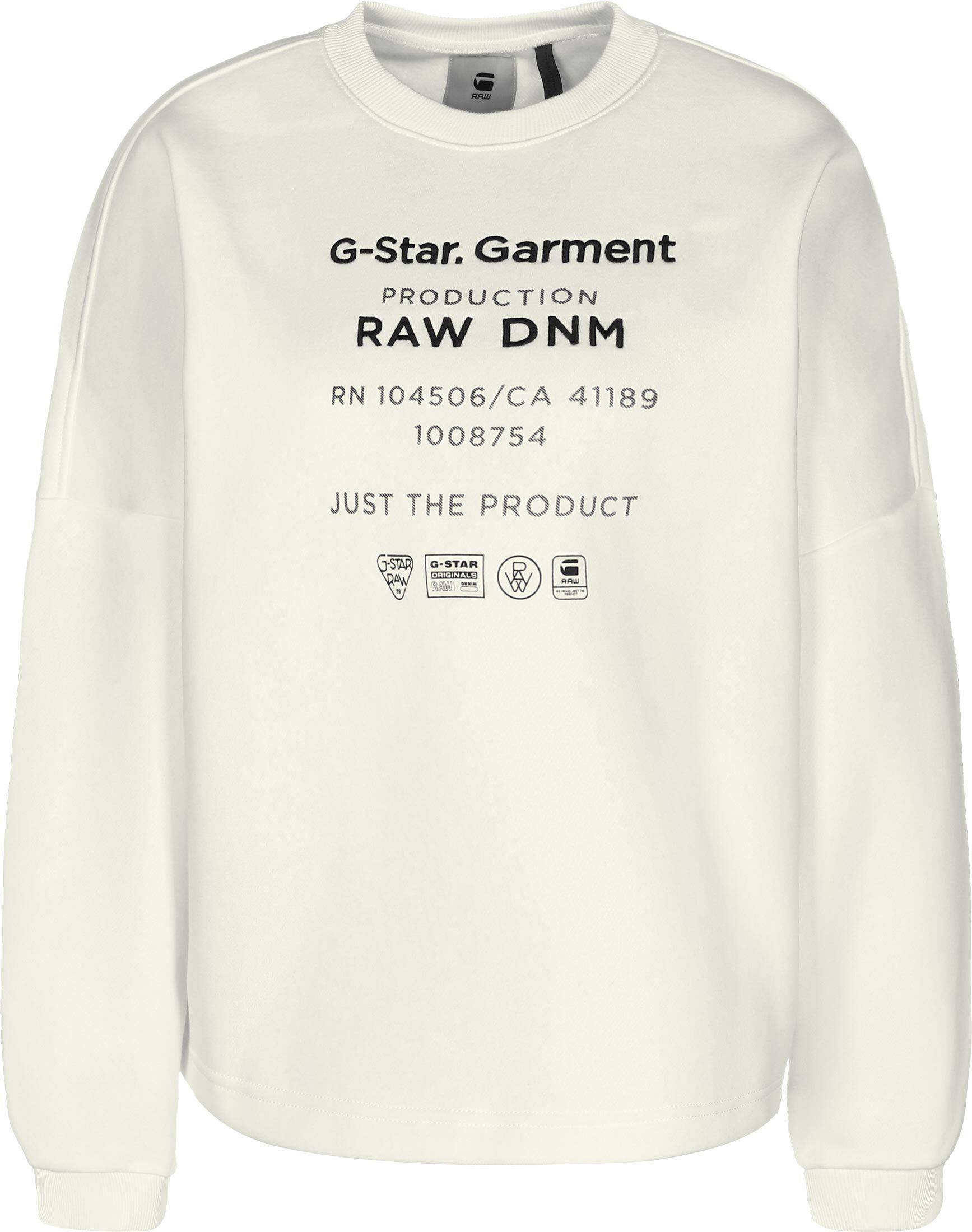 G-Star RAW G-Star Garphic text relaxed, taille XS, femme, blanc