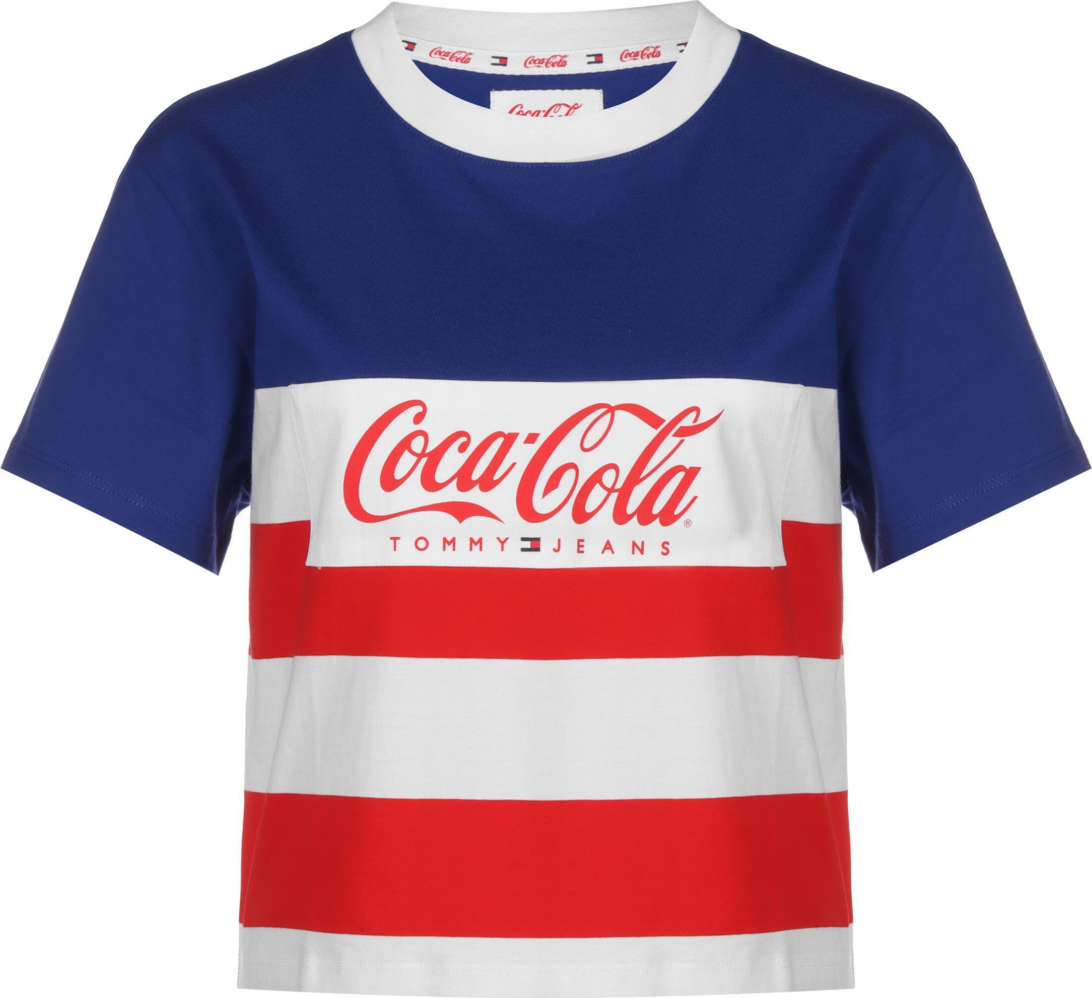 Tommy Jeans X Coca Cola, taille L, femme, bleu