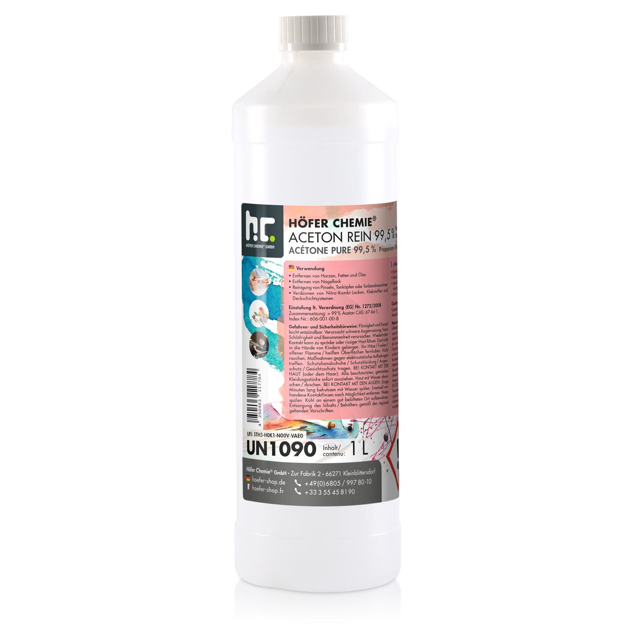 Höfer Chemie 1 l Acétone pur 99,5% (1 x 1 l)