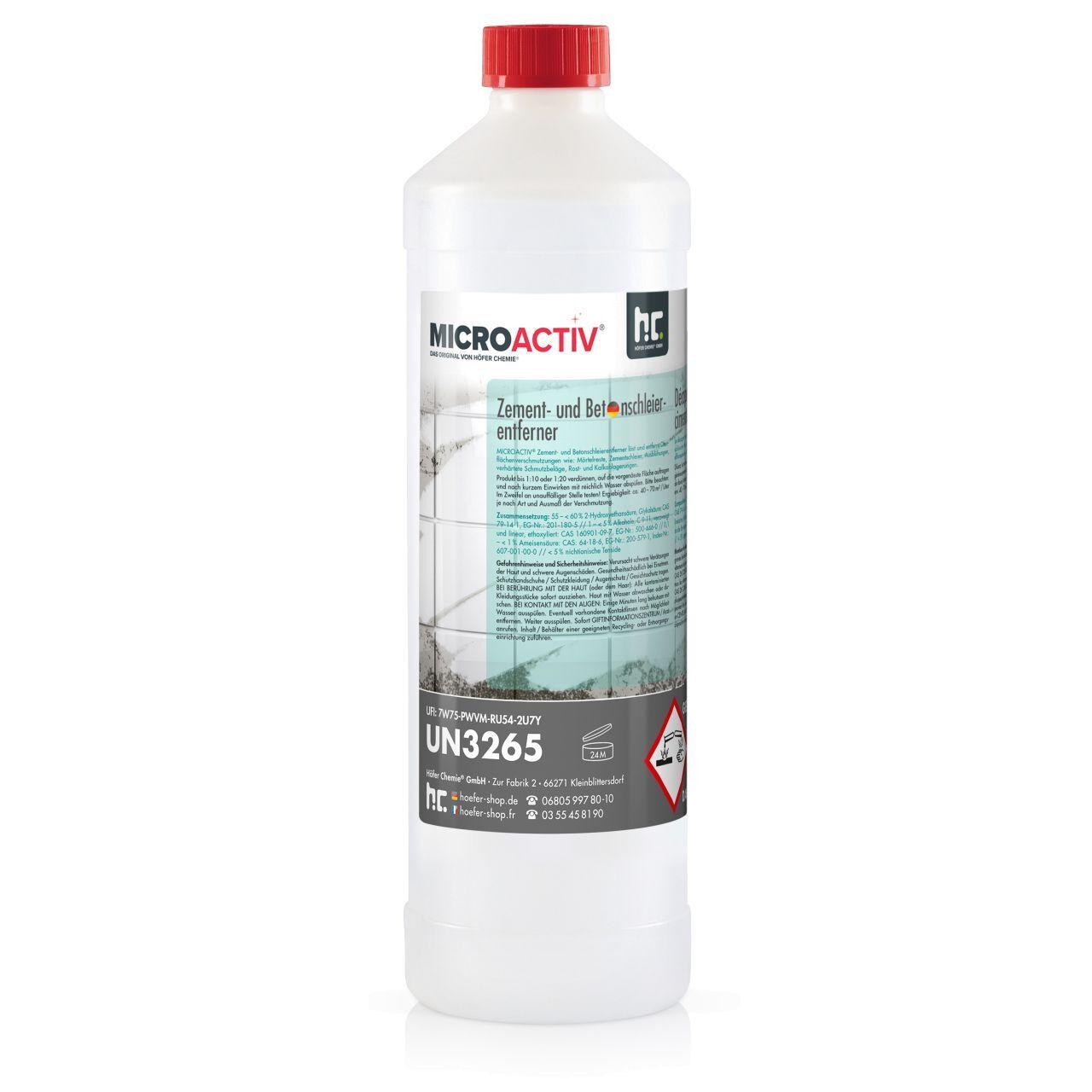 MICROACTIV 6 l MICROACTIV Décapant pour laitance de ciment et béton (6 x 1 l)