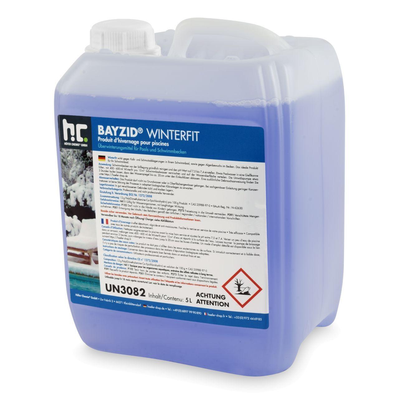 BAYZID 20 l BAYZID® Winterfit Produit d'hivernage piscine (4 x 5 l)