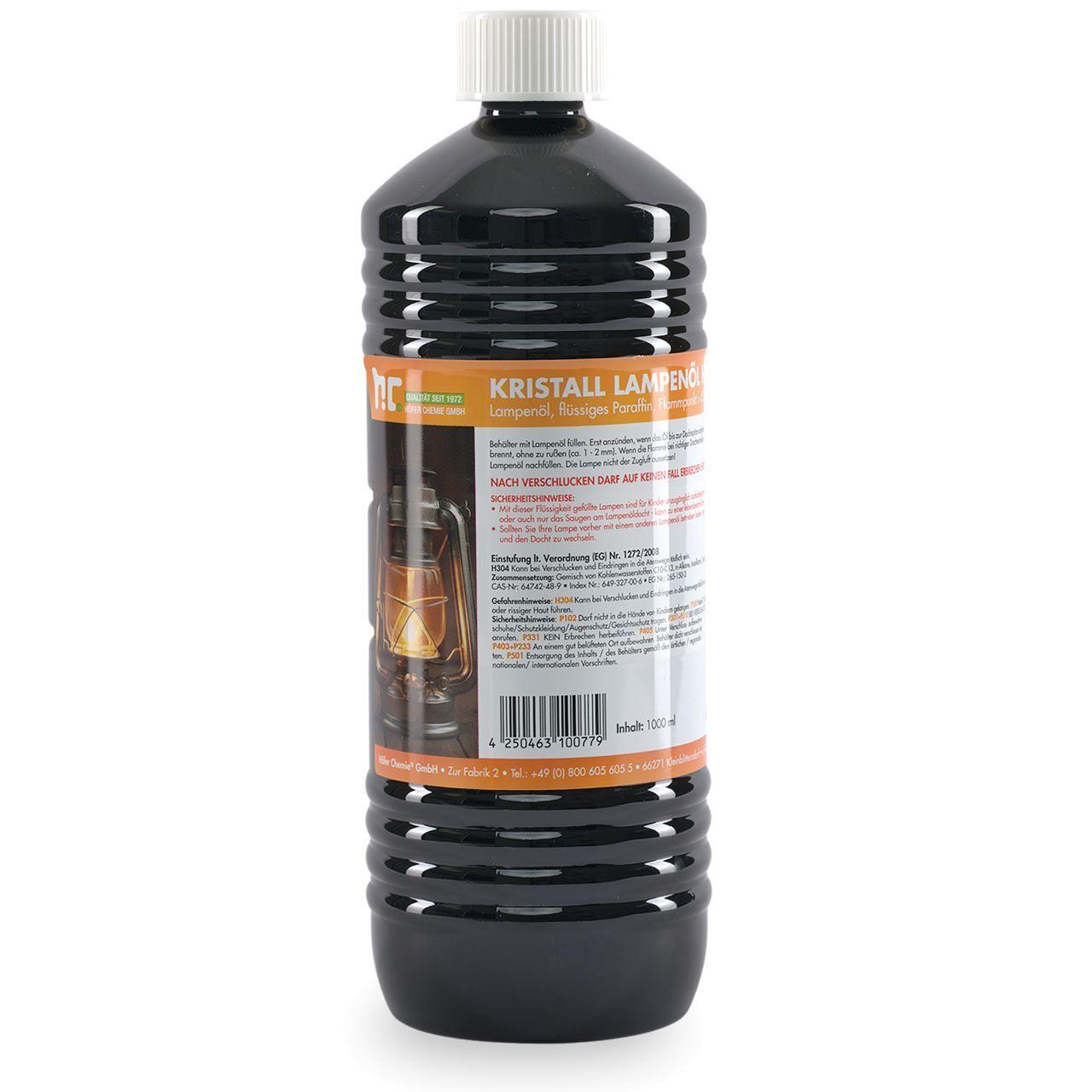 Höfer Chemie 1 l Huile de paraffine pour lampe - inodore (1 x 1 l)