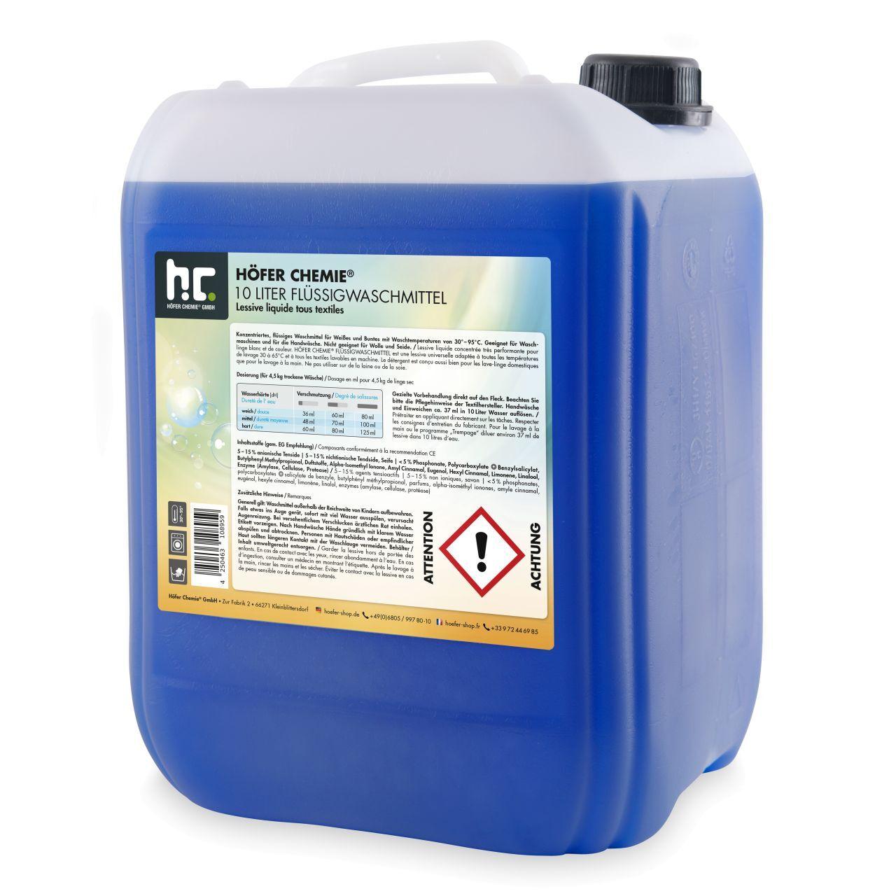 Höfer Chemie 60 l Lessive liquide (6 x 10 l)