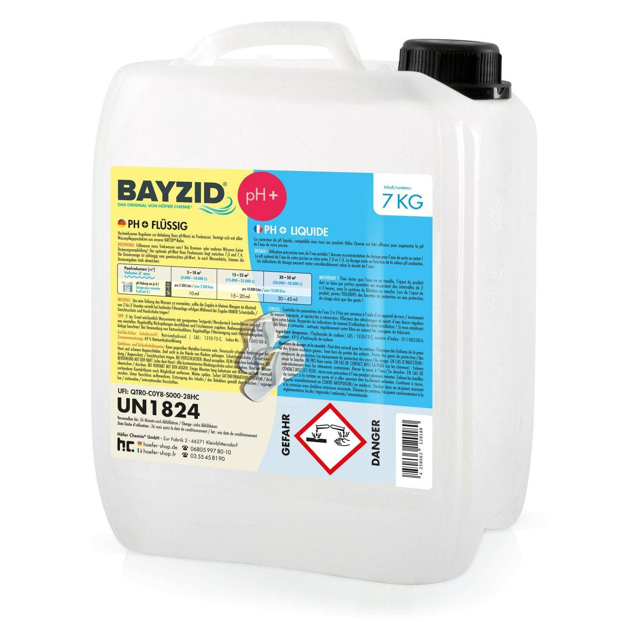 BAYZID 7 kg pH plus liquide (1 x 7 kg)