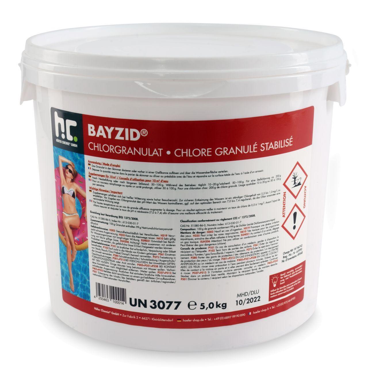 BAYZID 5 kg Bayzid® Granulé de chlore choc (1 x 5 kg)