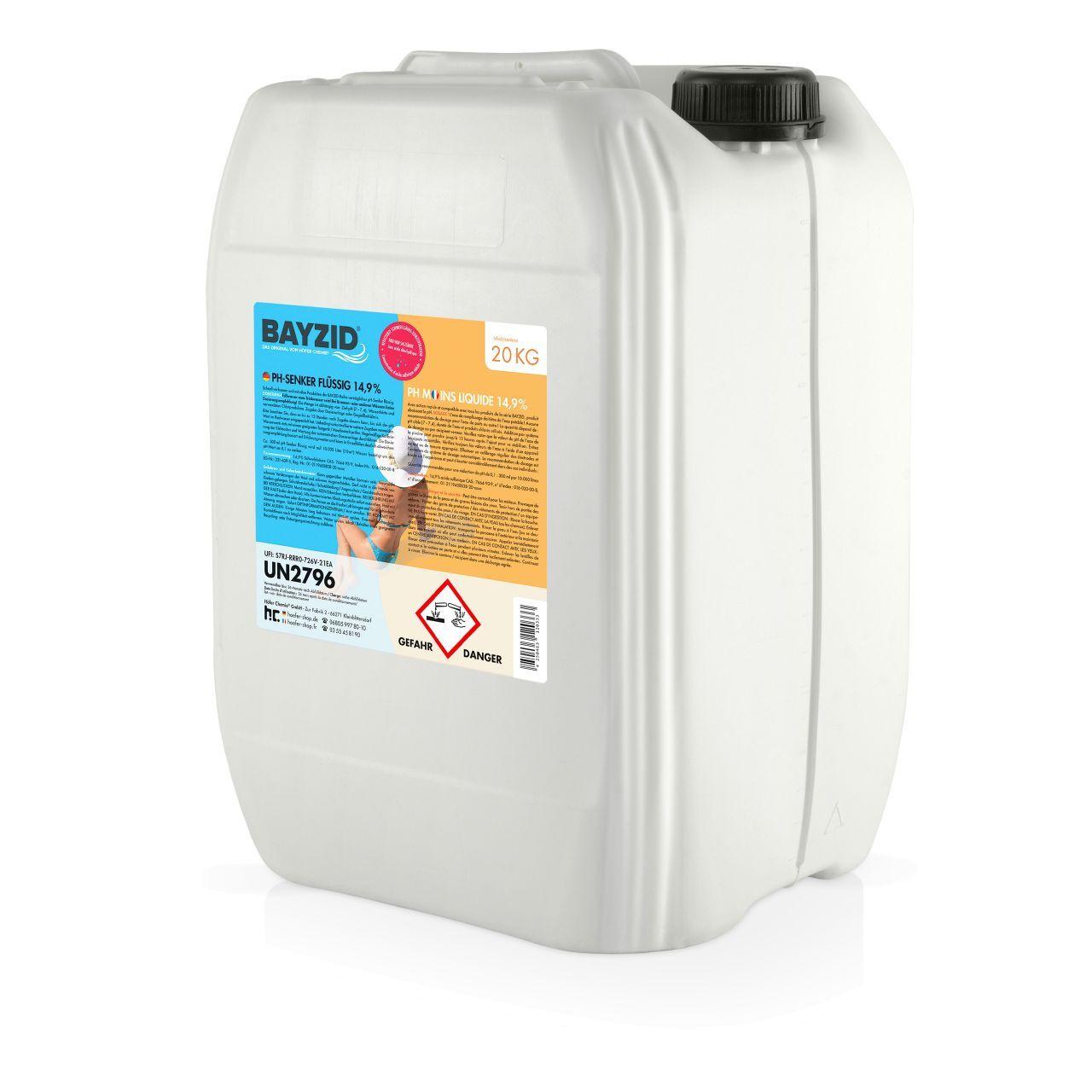 BAYZID 40 kg pH moins liquide (2 x 20 kg)