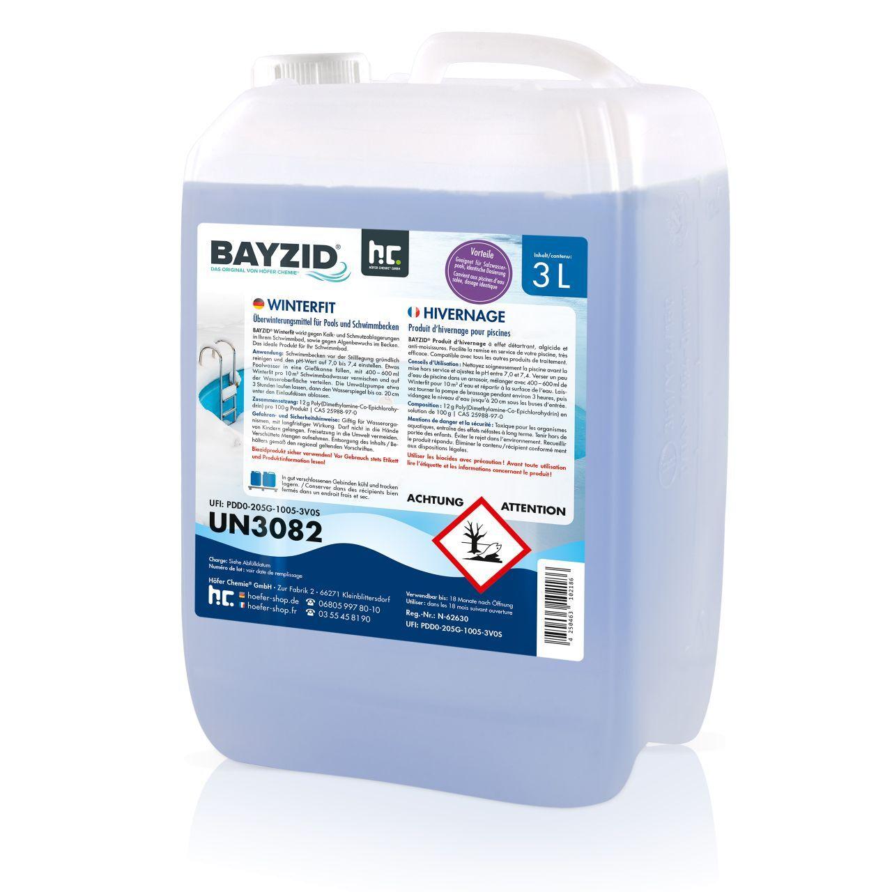 BAYZID 6 l Produit d'hivernage piscine (2 x 3 l)