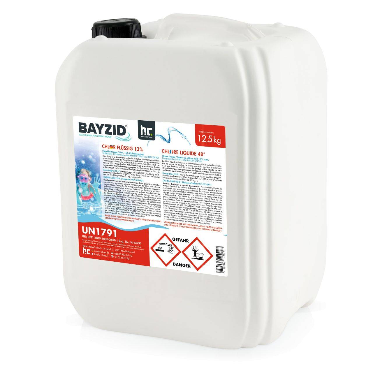BAYZID 2,5 kg Bayzid® Chlore liquide 48° (1 x 12.5 kg)