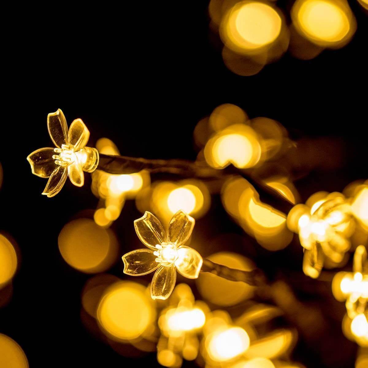 Höfer Chemie Arbre à LED avec des fleurs pour la décoration (150 cm - 200 LED)