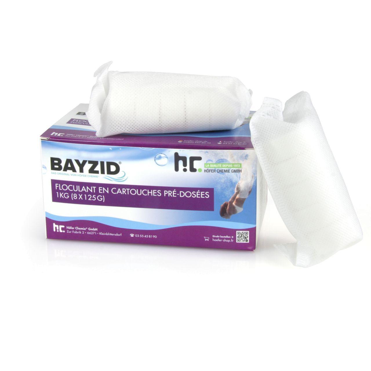 BAYZID 2 kg BAYZID® Cartouches de floculant pré-dosées (8x 125g) (2 x 1 kg)