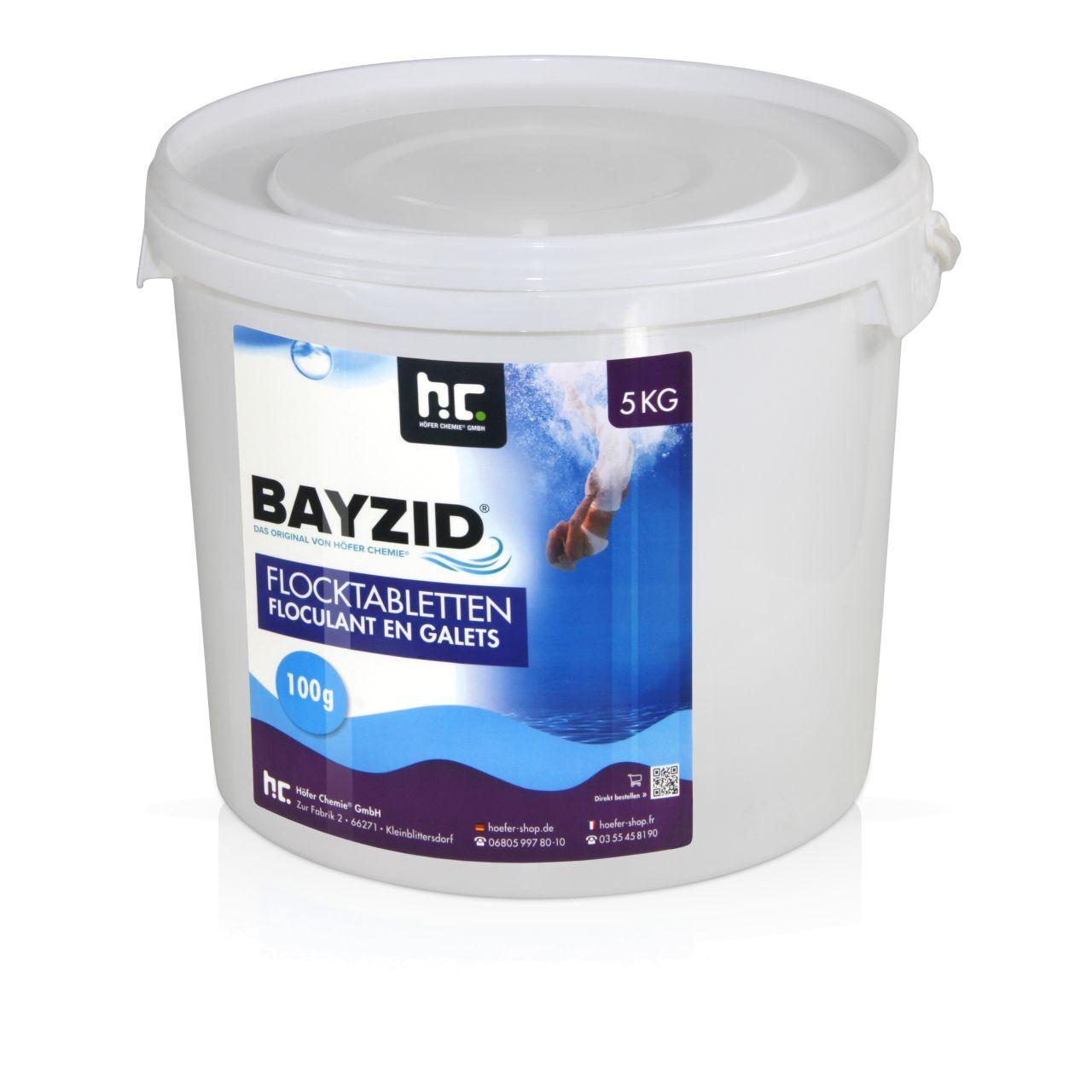 BAYZID 20 kg Bayzid® Floculant en galets (100g) (4 x 5 kg)