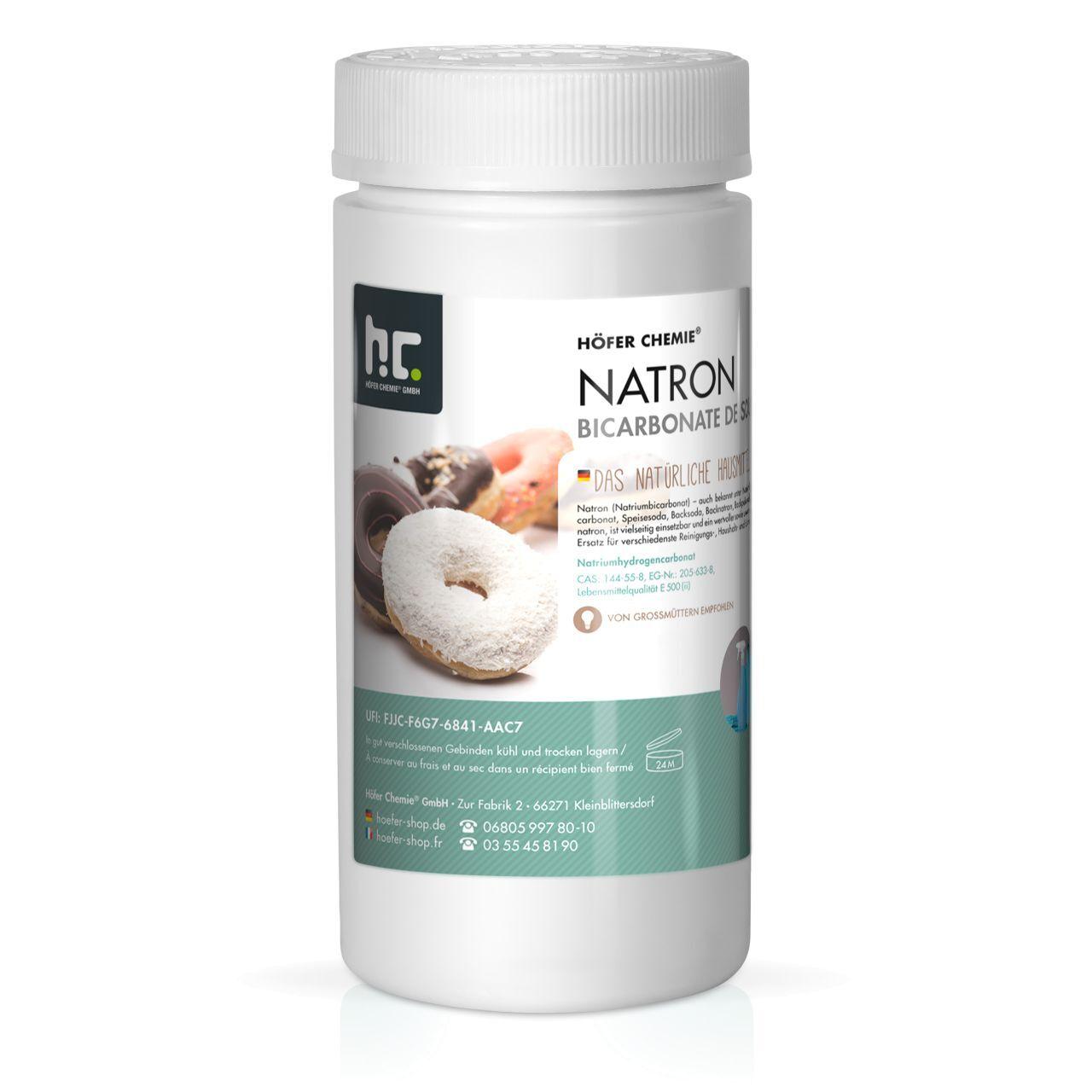 Höfer Chemie 4 kg de bicarbonate de sodium en qualité alimentaire (4 x 1 kg)