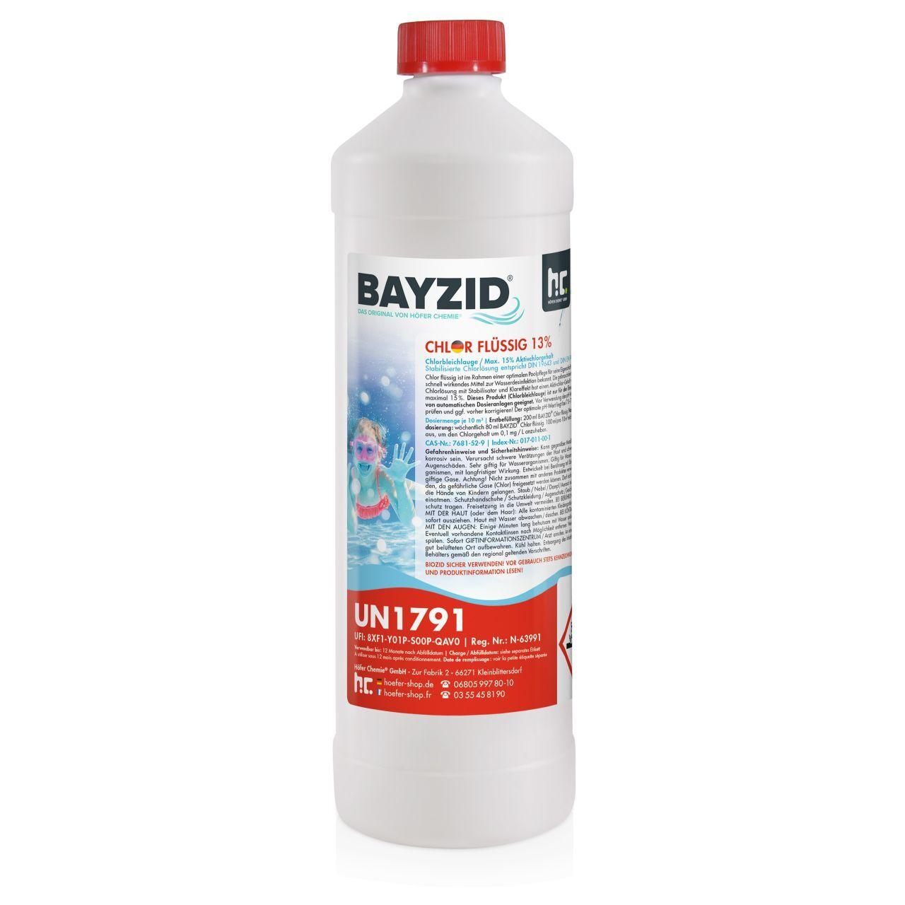 BAYZID 15 kg Bayzid® Chlore choc liquide 48° (15 x 1 kg)