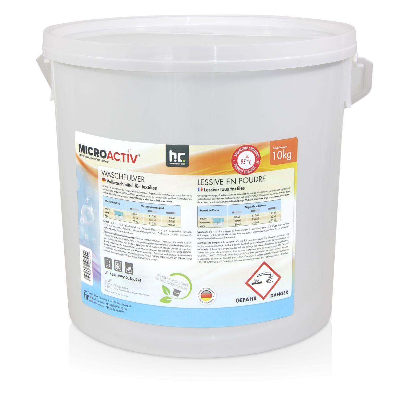 Höfer Chemie 20 kg Lessive en poudre (2 x 10 kg)