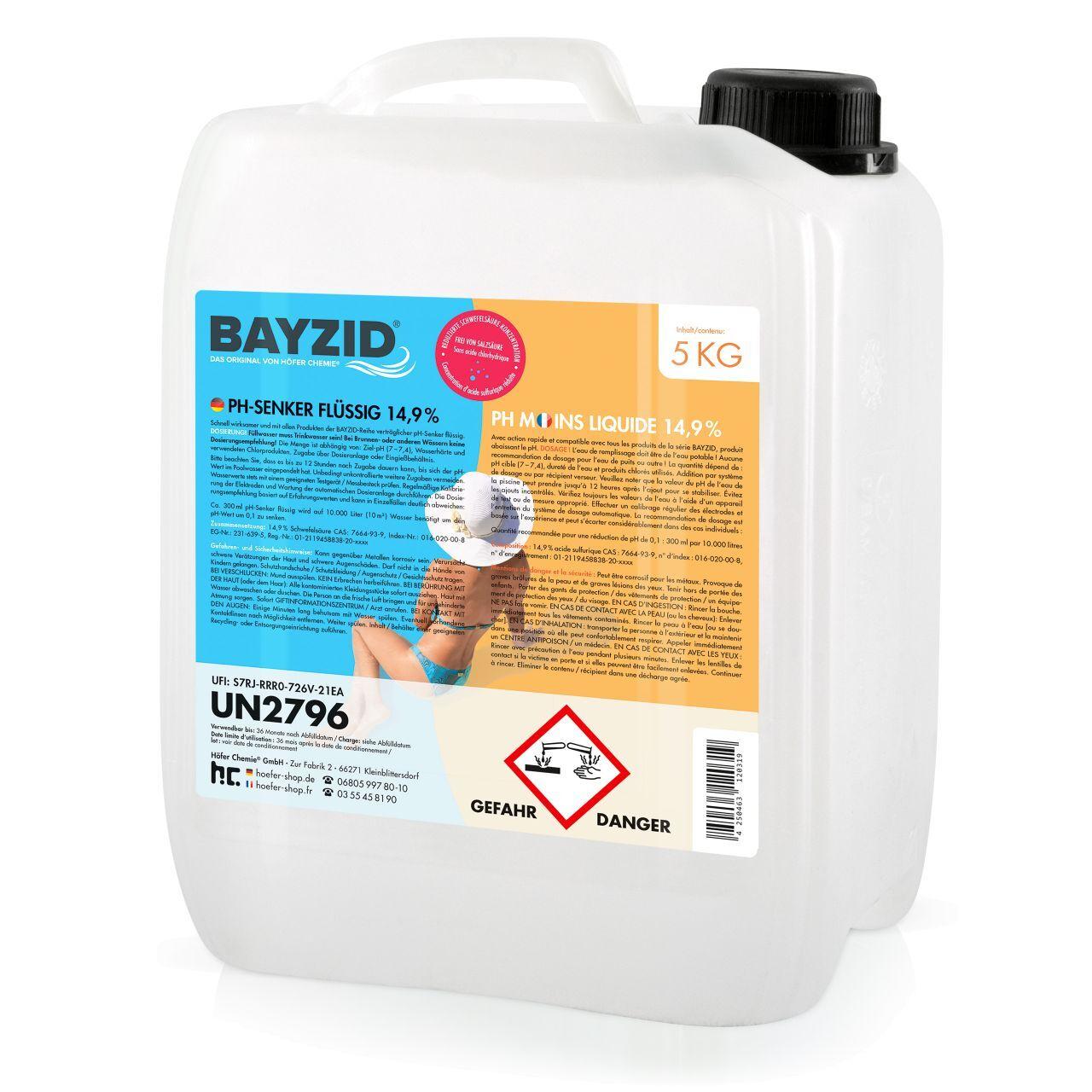 BAYZID 20 kg pH moins liquide (4 x 5 kg)