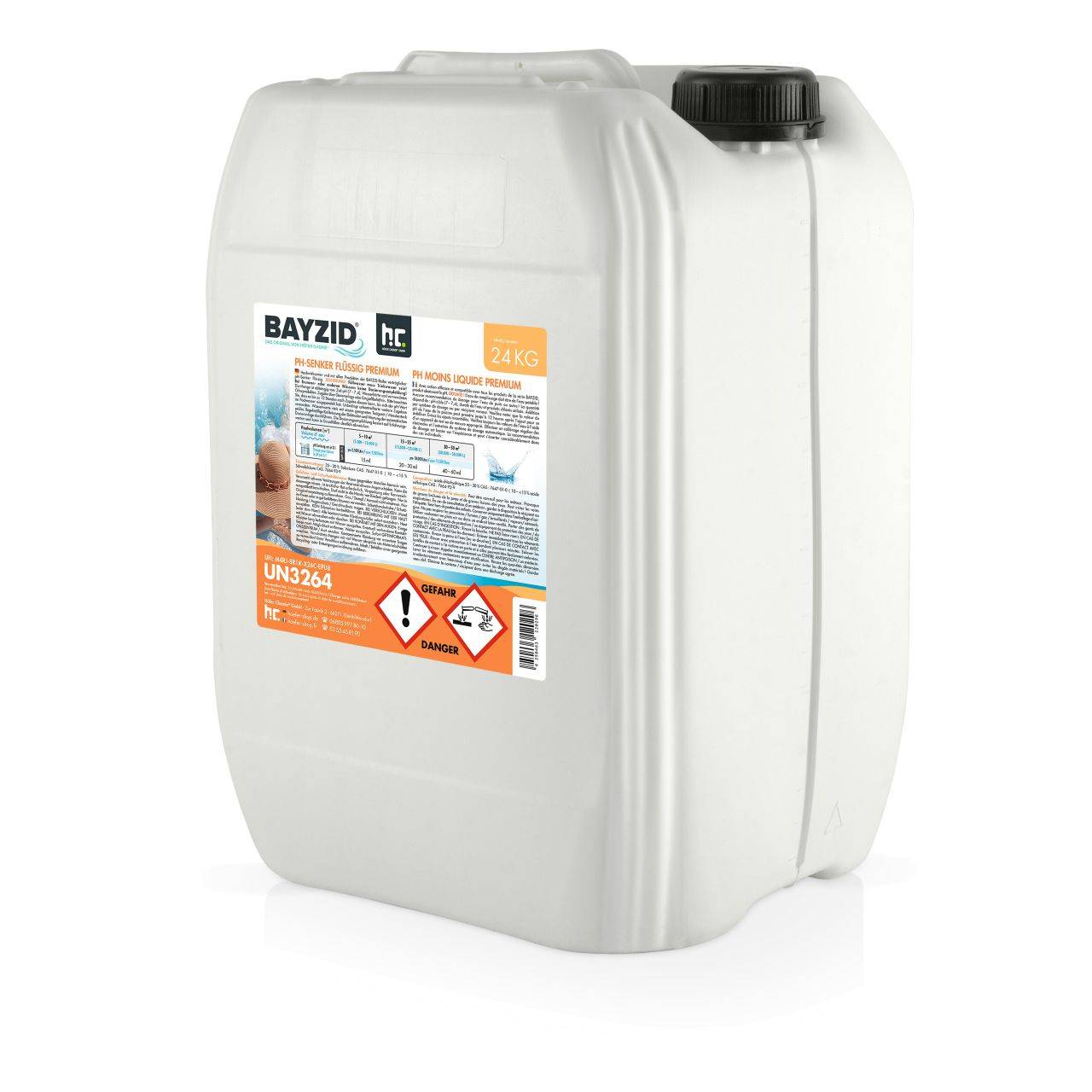 BAYZID 96 kg Bayzid® pH moins liquide (4 x 24 kg)