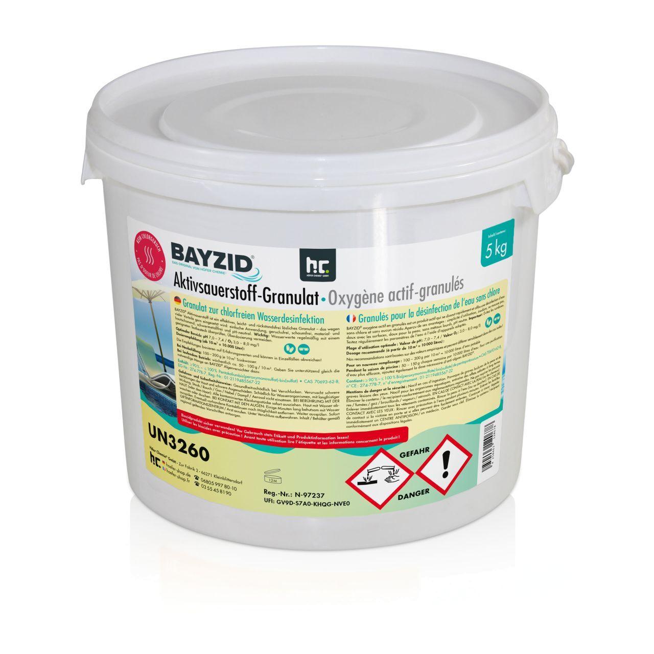 Höfer Chemie 20 kg BAYZID® Oxygène actif – granulés (4 x 5 kg)
