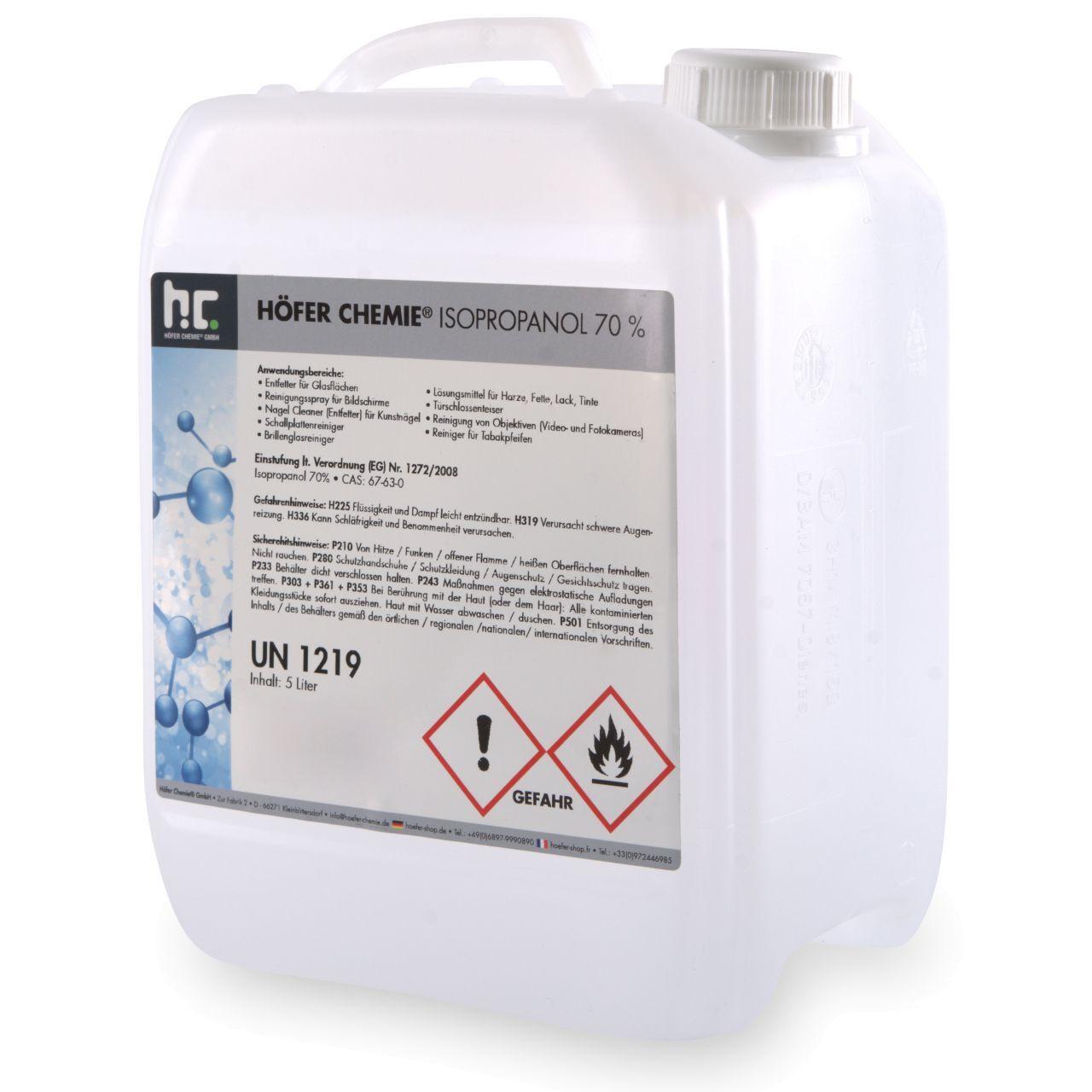Höfer Chemie 20 l alcool isopropylique 70% (4 x 5 l)