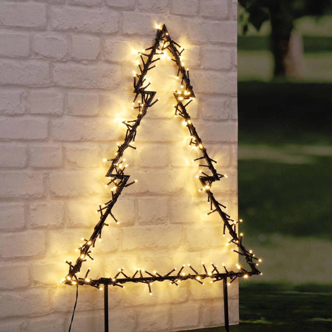 Höfer Chemie Décorations LED pour le jardin - différents motifs de Noël (Lot de 3 petits m...