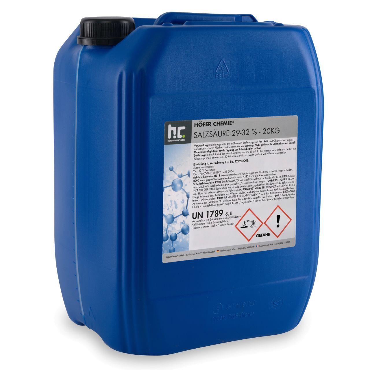 Höfer Chemie 20 kg acide chlorhydrique (1 x 20 kg)