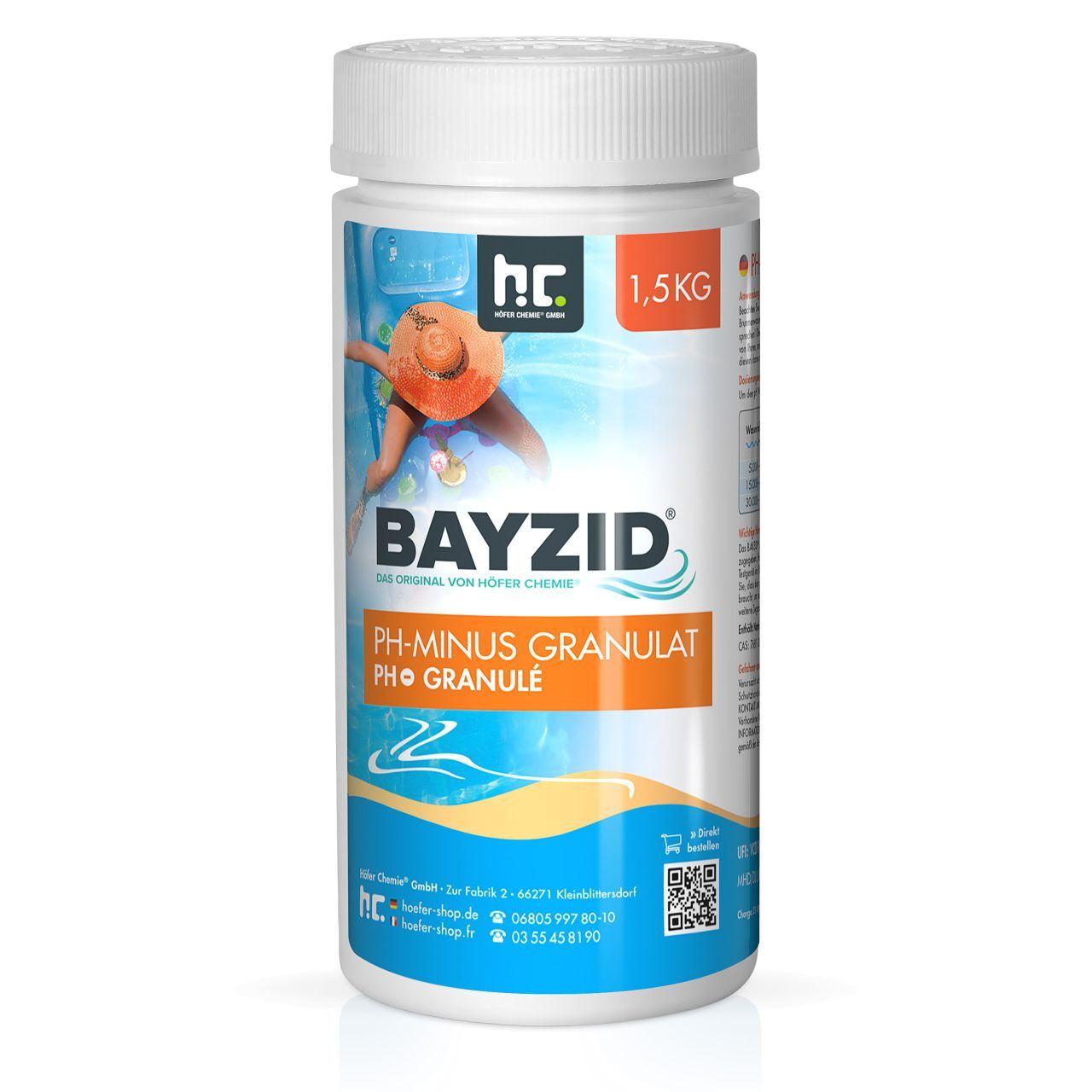 BAYZID 9 kg Bayzid® pH moins granulé (6 x 1.5 kg)