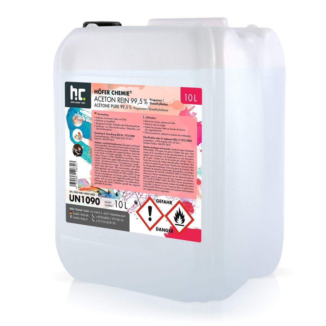 Höfer Chemie 10 l Acétone pur 99,5% (1 x 10 l)