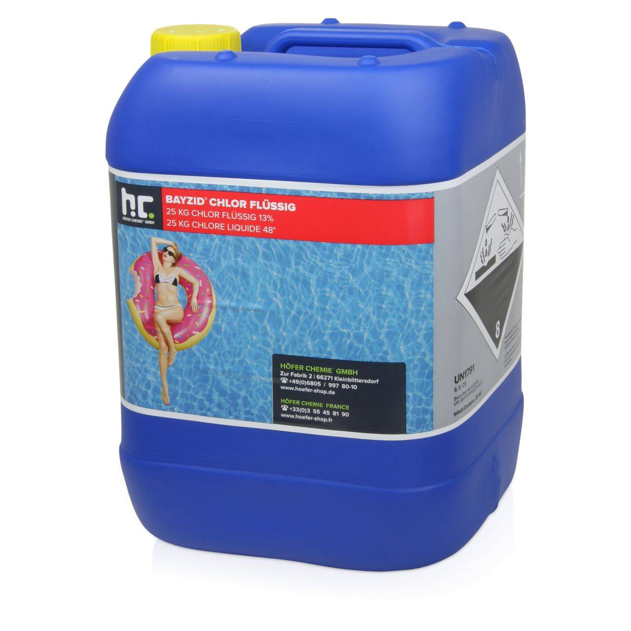 BAYZID 50 kg 20 L) Bayzid® Chlore liquide 48° (2 x 25 kg)