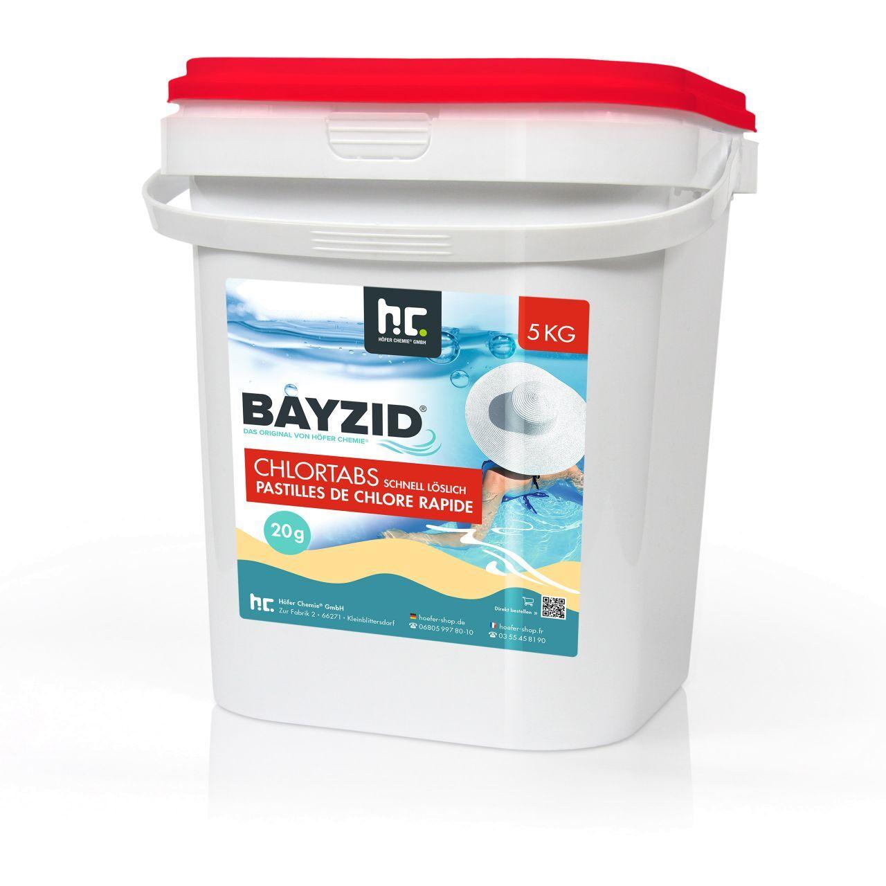 BAYZID 5 kg Bayzid® Pastilles de chlore choc (20g) (1 x 5 kg)